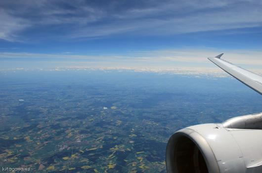 チューリッヒからコペンハーゲンへのフライト
