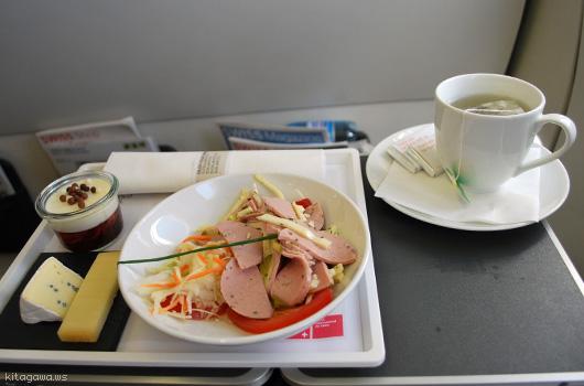 スイス航空SWISS機内食