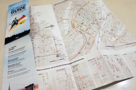 コペンハーゲン市内交通地図