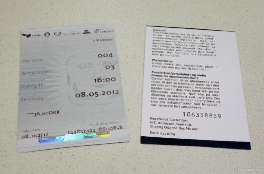 コペンハーゲン空港列車チケット