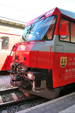 スイスのクールからサンモリッツへ鉄道