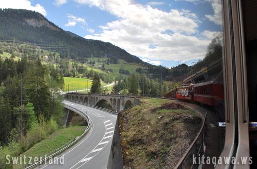スイス鉄道旅行