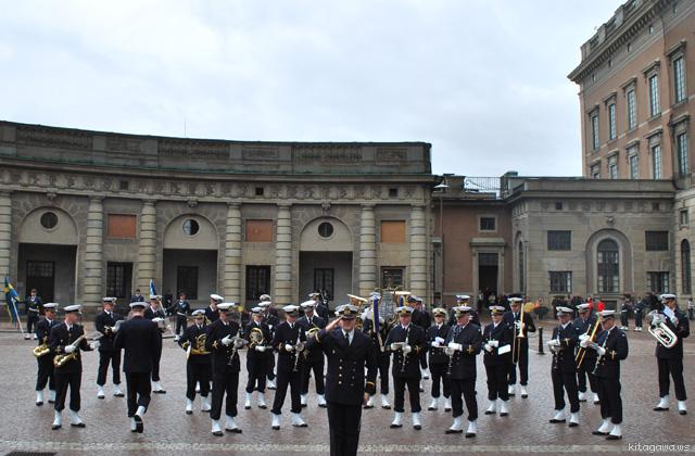 ストックホルム王宮の衛兵交代式