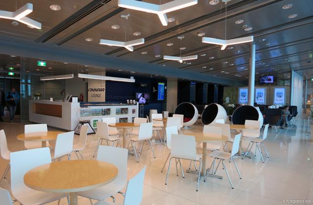 ヘルシンキ空港フィンエアービジネスクラスラウンジ