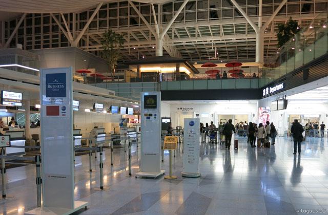 羽田空港JALチェックインカウンター