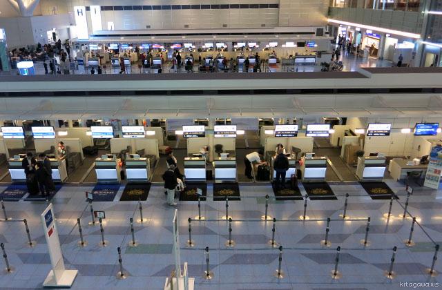 JAL羽田空港JGCチェックインカウンター