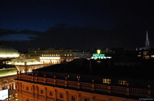 オーストリア旅行記 ウィーンの夜景