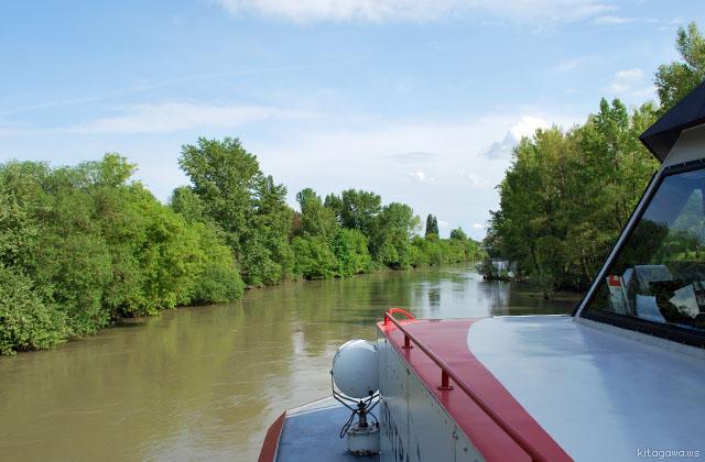 ウィーンからブラチスラヴァへの船