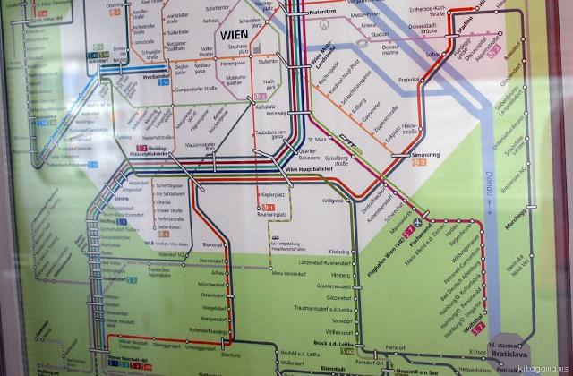 オーストリア国鉄 近郊列車路線図