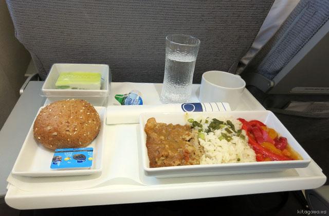Flybeビジネスクラス機内食