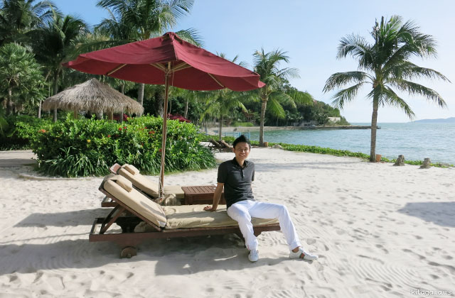 タイのリゾートでバカンス