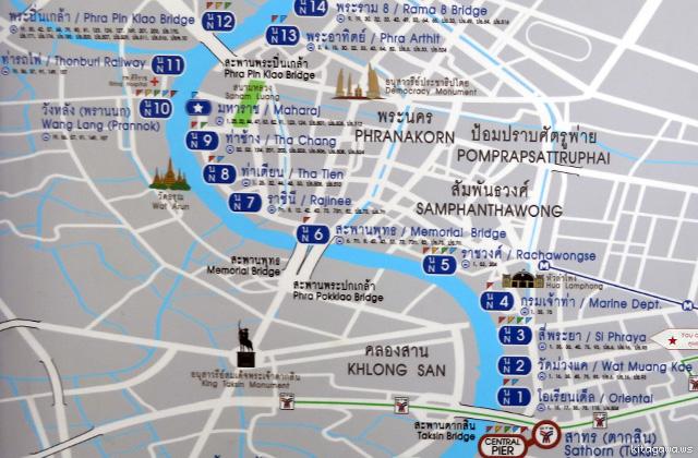 チャオプラヤーエクスプレス 路線図