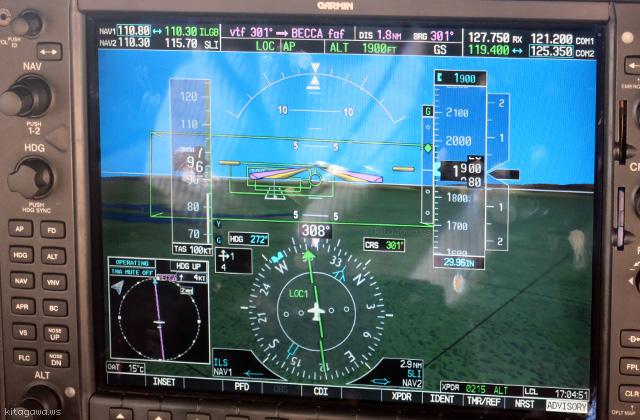 ガーミンG1000 実機 オートパイロット