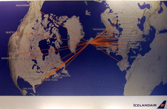 アイスランド航空 路線図