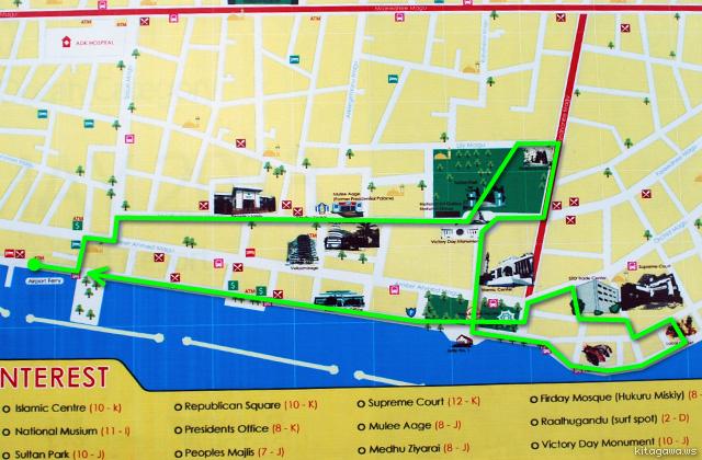 マレ 地図 モルジブ