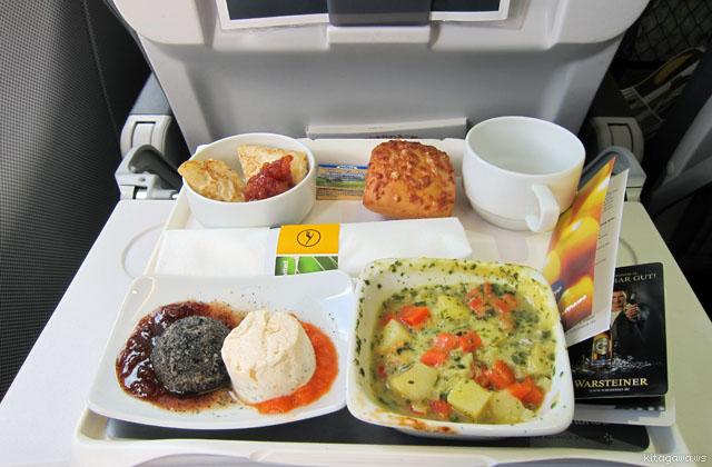 ルフトハンザ航空ヨーロッパ線ビジネスクラス機内食