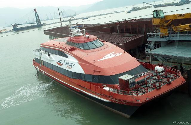 香港空港からマカオへの船 ターボジェット