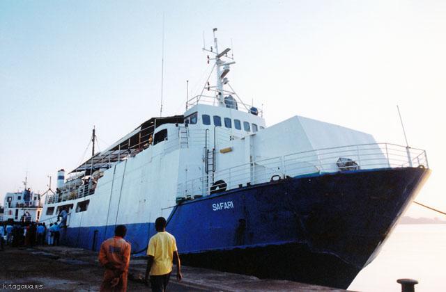 ダルエスサラームからムトワラ 船