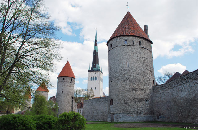 タリン旧市街 城壁 エストニア