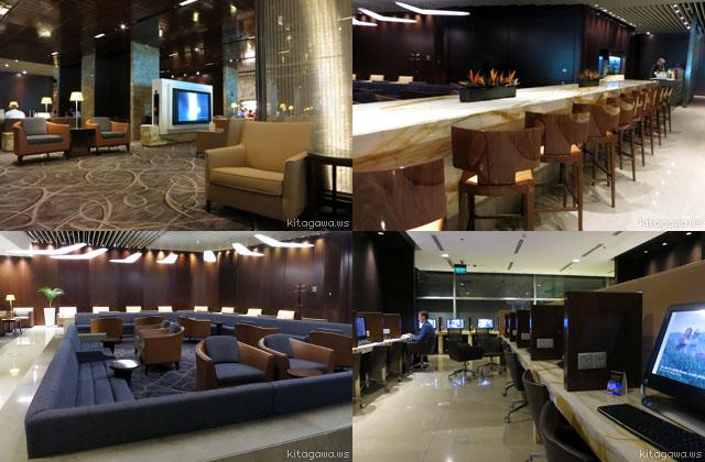 チャンギ空港シンガポール航空ビジネスクラスラウンジ