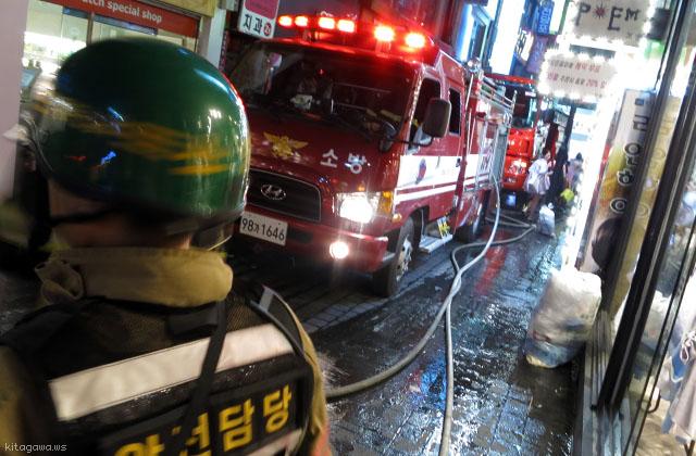 ソウルの消防車