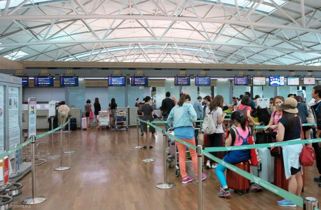 タイ航空チェックインカウンター