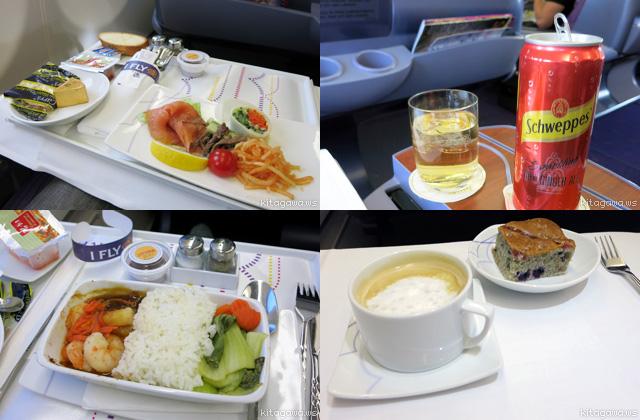 タイ航空ビジネスクラス機内食