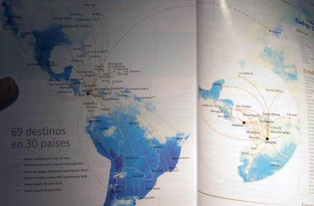 コパ航空 COPA 路線図