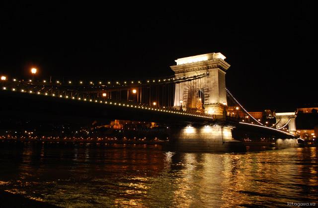 くさり橋 ライトアップ