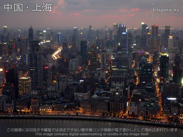 上海 サンセット 写真