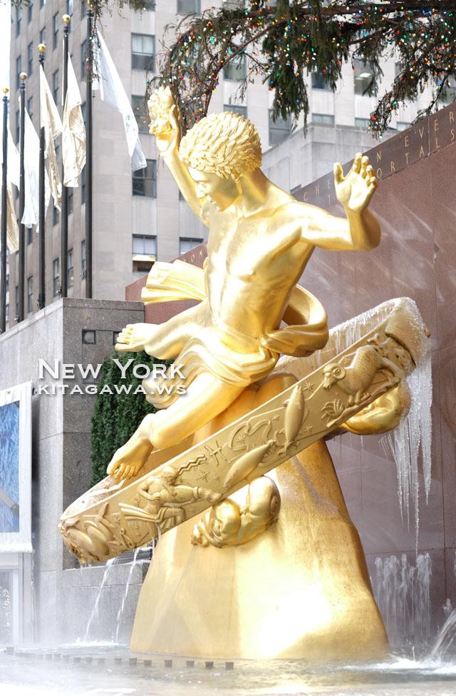 Rockefeller Center Prometheus プロメテウスの黄金像