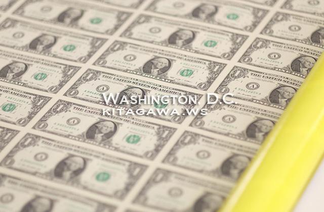 未カット 米ドル紙幣 未断裁シート