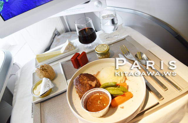 エールフランス ビジネスクラス 機内食
