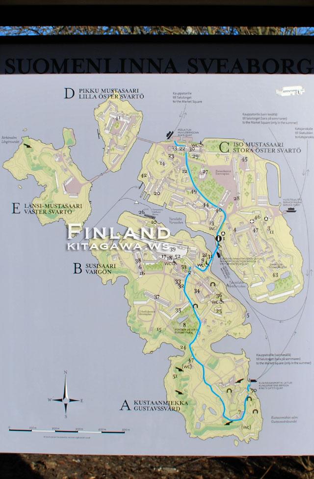 スオメンリンナ島 地図