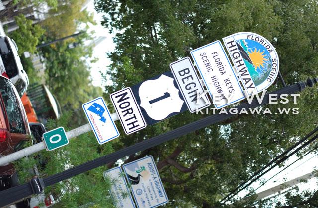 Mile Marker 0 US-1 マイルマーカーゼロ キーウェスト