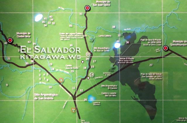 サンアンドレス遺跡 地図