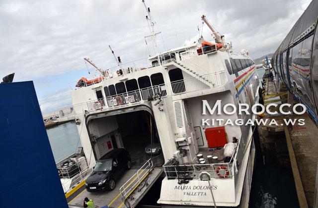 スペインからモロッコ 船