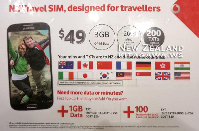 ニュージーランド 携帯電話 SIMカード