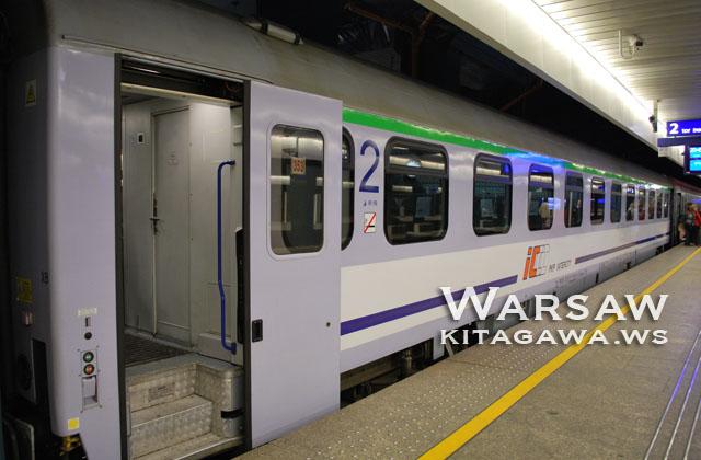 ポーランドからオーストリア 夜行列車 鉄道