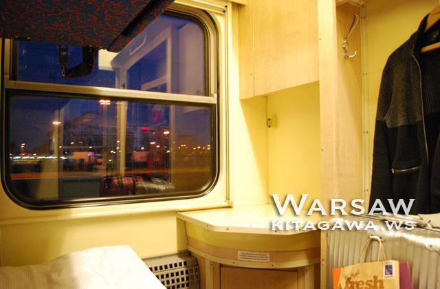 ワルシャワからウィーン 個室寝台車両