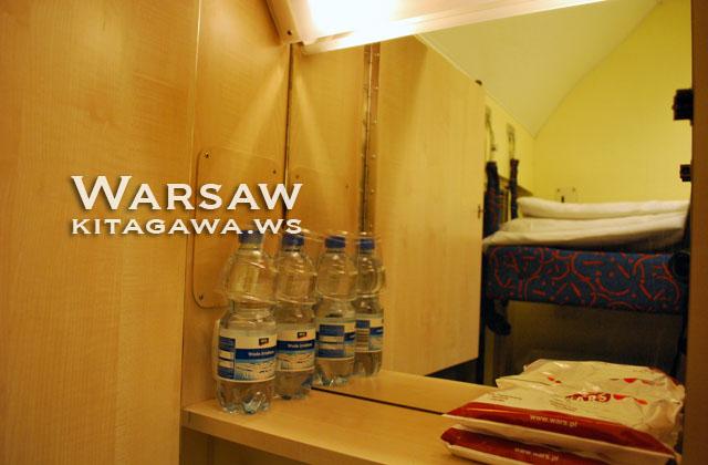 ワルシャワからウィーン 寝台車