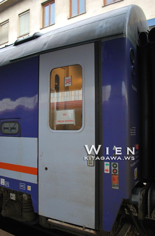 ウィーンからワルシャワ 夜行列車 鉄道
