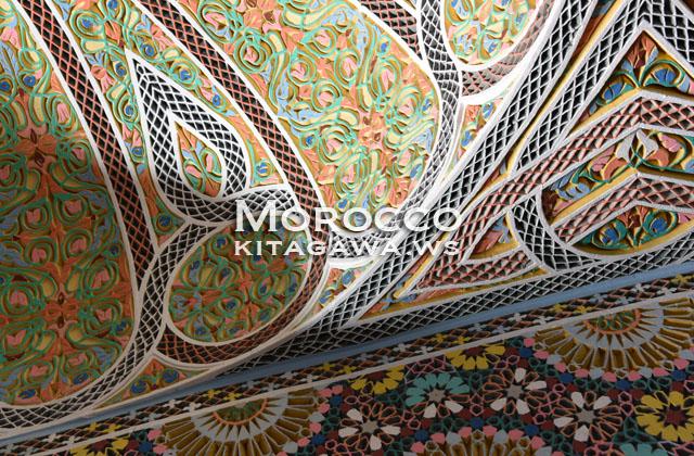 モロッコ 壁 ゼリージュ 建築 タイル