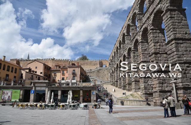 セゴビア旧市街と水道橋