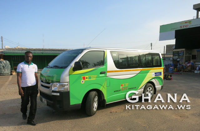 ガーナ 国境 バス