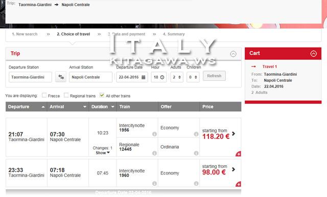 イタリア 鉄道 予約