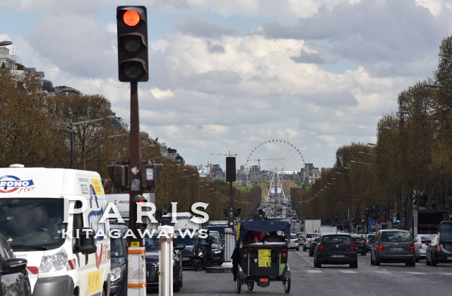 シャンゼリゼ通りから見た大観覧車 La Grande Roue vu des Champs-Élysées