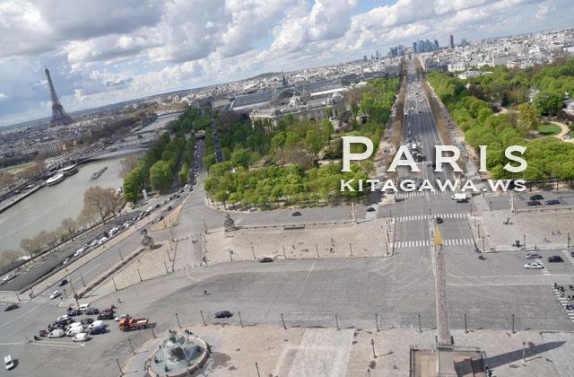 コンコルド広場とエッフェル塔 Place de la Concorde et la tour Eiffel
