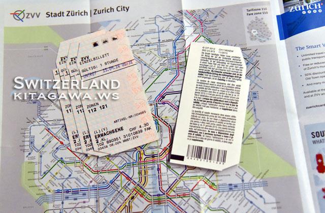 チューリッヒ トラム 路線図