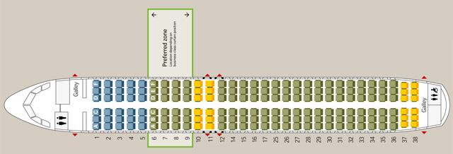 スイス A320 シートマップ